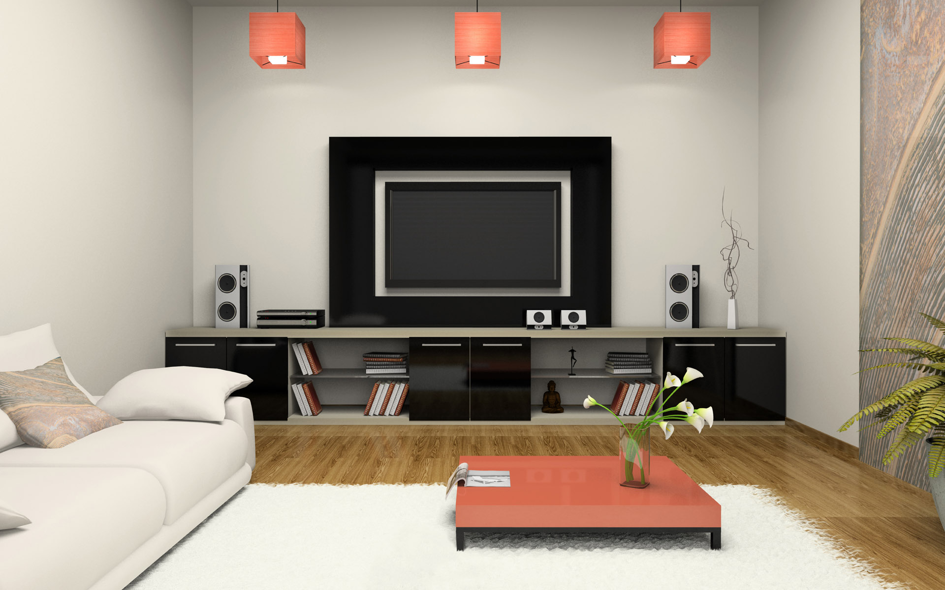 contemporary-living-room-with-tv-also-ikea-gallery-ideas