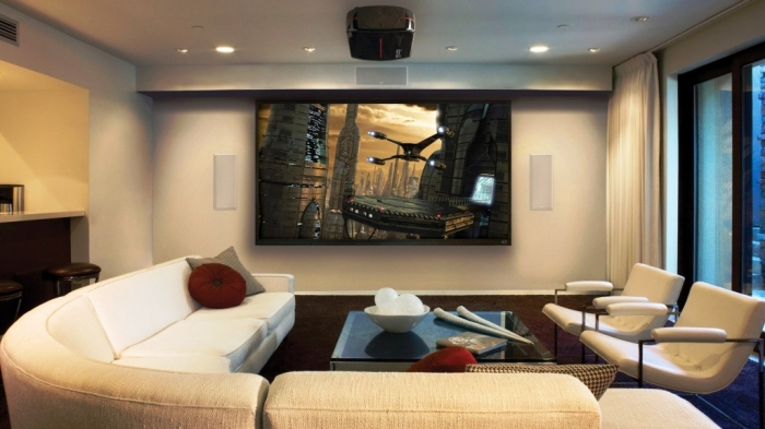 Cozy-Family-TV-Viewing-Room-with-White-Walls-and-White-Furniture-700x393